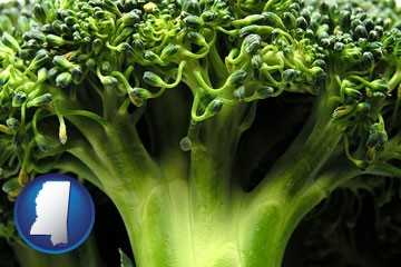 fresh broccoli - with Mississippi icon