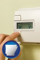 arkansas a heating system thermostat