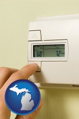 michigan a heating system thermostat