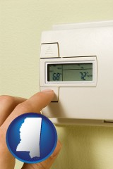 mississippi a heating system thermostat