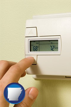a heating system thermostat - with Arkansas icon