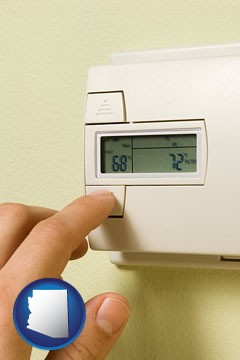 a heating system thermostat - with Arizona icon