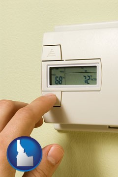 a heating system thermostat - with Idaho icon