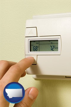 a heating system thermostat - with Montana icon