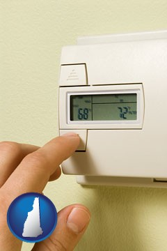 a heating system thermostat - with New Hampshire icon