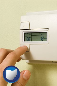 a heating system thermostat - with Ohio icon