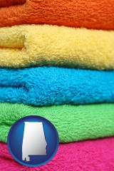 alabama colorful bath towels