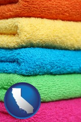 california colorful bath towels