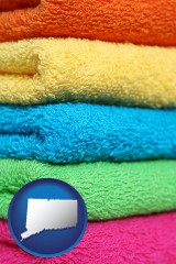 connecticut colorful bath towels