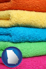 georgia colorful bath towels