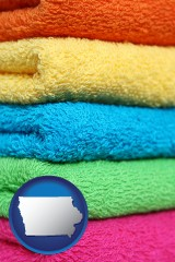 iowa colorful bath towels