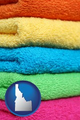 idaho colorful bath towels
