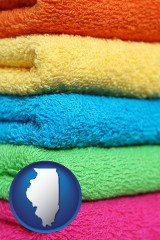 illinois colorful bath towels