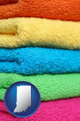 indiana colorful bath towels