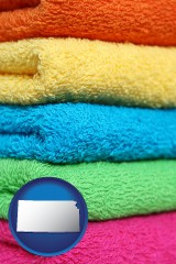 kansas colorful bath towels