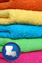 louisiana colorful bath towels