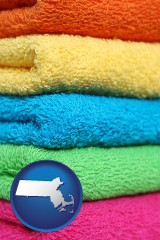 massachusetts colorful bath towels