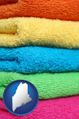 maine colorful bath towels