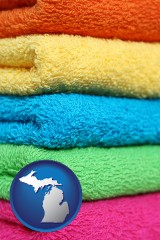 michigan colorful bath towels