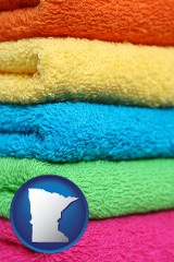 minnesota colorful bath towels
