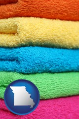missouri colorful bath towels