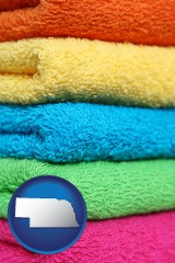 nebraska colorful bath towels