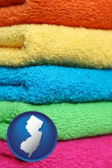 new-jersey colorful bath towels