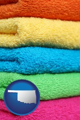 oklahoma colorful bath towels