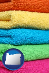 oregon colorful bath towels