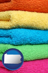 pennsylvania colorful bath towels