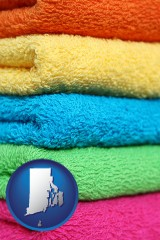 rhode-island colorful bath towels