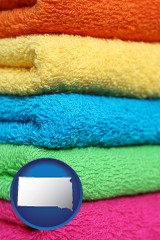 south-dakota colorful bath towels