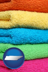 tennessee colorful bath towels