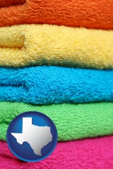 texas colorful bath towels