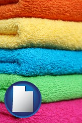 utah colorful bath towels