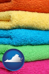 virginia colorful bath towels