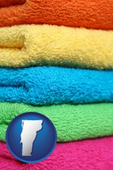vermont colorful bath towels
