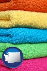 washington colorful bath towels