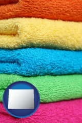 wyoming colorful bath towels
