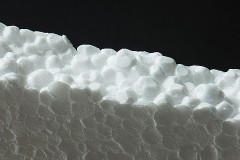 a white styrofoam insulation board