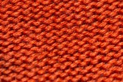 orange knit fabric