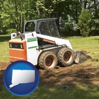 connecticut landscaping equipment (a skid-steer loader)