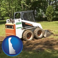 delaware landscaping equipment (a skid-steer loader)