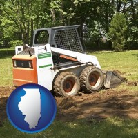 illinois landscaping equipment (a skid-steer loader)