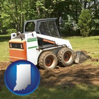 indiana landscaping equipment (a skid-steer loader)