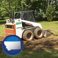 montana landscaping equipment (a skid-steer loader)