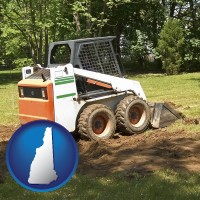 new-hampshire landscaping equipment (a skid-steer loader)