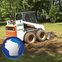 wisconsin landscaping equipment (a skid-steer loader)