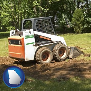 landscaping equipment (a skid-steer loader) - with Georgia icon