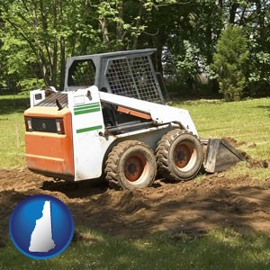 landscaping equipment (a skid-steer loader) - with New Hampshire icon